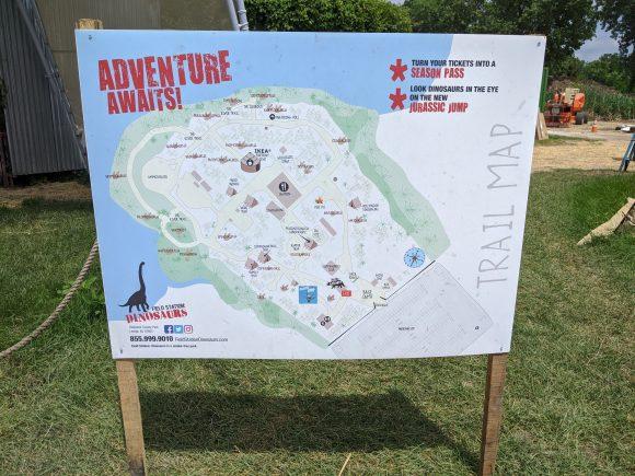 Field Station Dinosaur map of dinosaur attractions