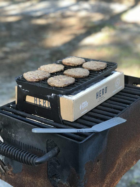 6 hamburgers fit on a hero grill