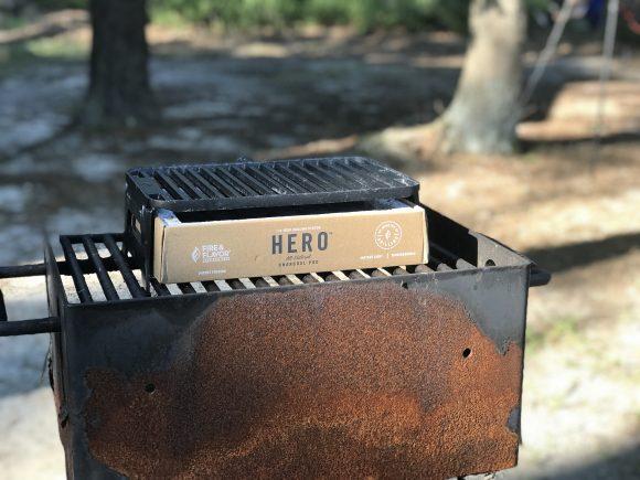 Camping gear hero grill on a regular grill