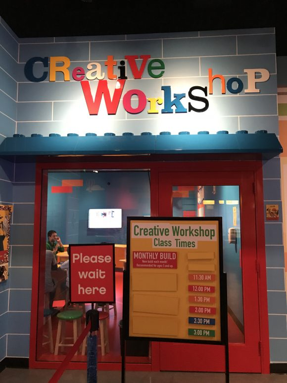 Legoland Discovery Center New Jersey Creative Workshop
