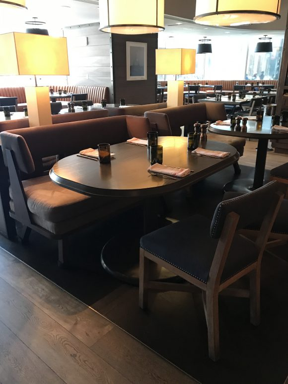 Bank and Bourban Restaurant seating