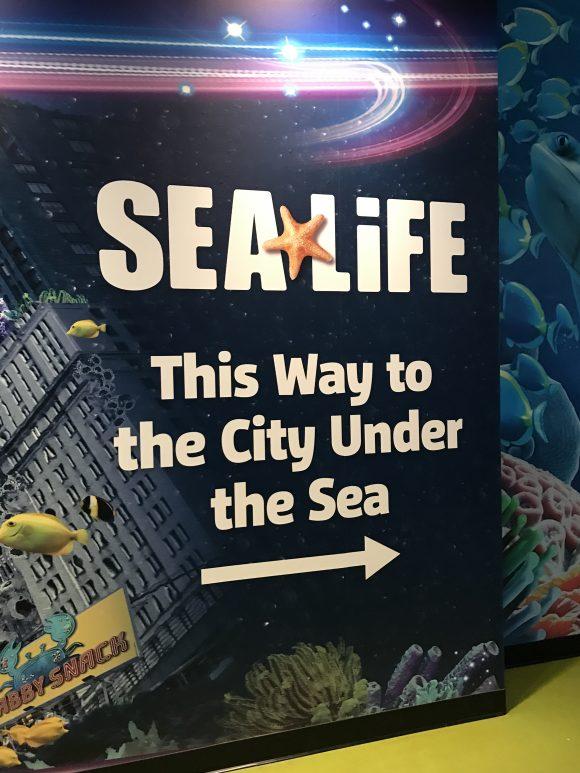 Sea Life Aquarium NJ entrance sign
